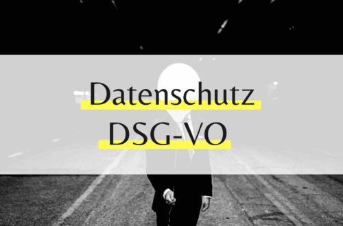 DSGVO Datenschutz und nun!?
