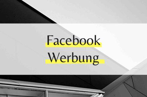 Facebook Werbung für Einsteiger