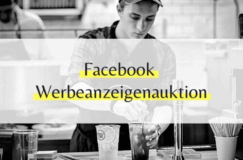 Facebook Werbeanzeigenauktion