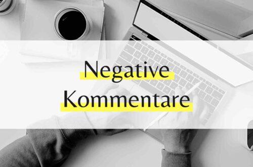 Negative Kommentare im Netz