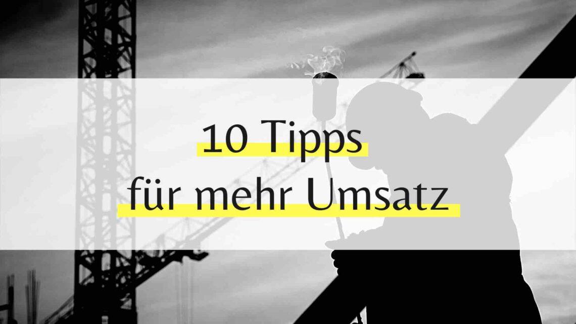 10 Tipps für mehr Umsatz